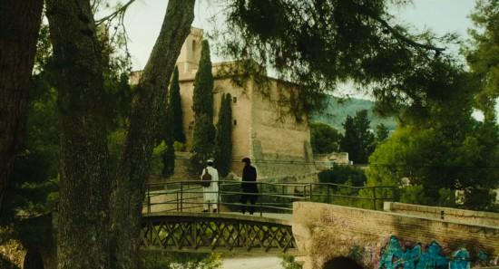 San Castell de Ribasの横の橋撮影地