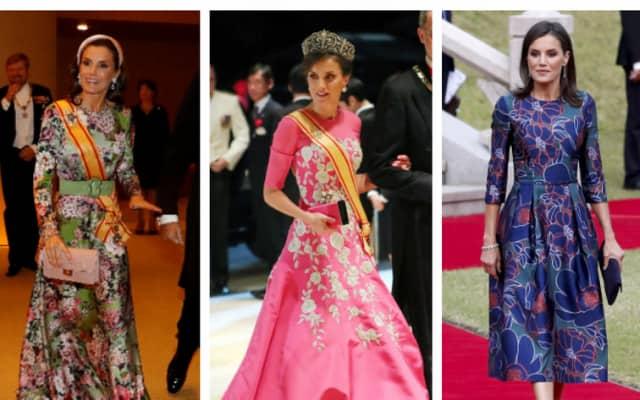 2019年訪日時のレティシア王妃のドレス