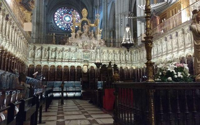 トレド大聖堂の聖歌隊席