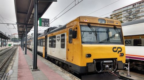 ビーゴからポルト行きの電車