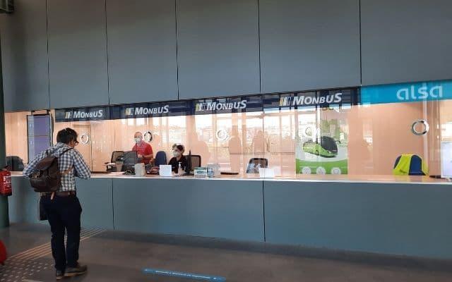 サンティアゴバスターミナル切符売り場