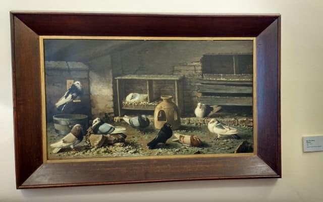父ホセ・ルイスの鳩の絵