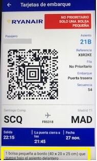 Ryanair App Boading Pass