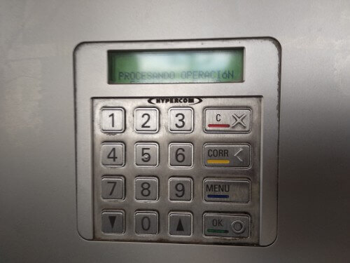 クレジットカード支払い暗唱番号入力ボタン