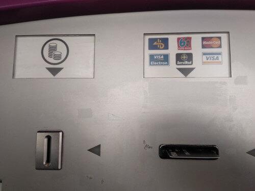 券売機の支払い方法(現金とカード)
