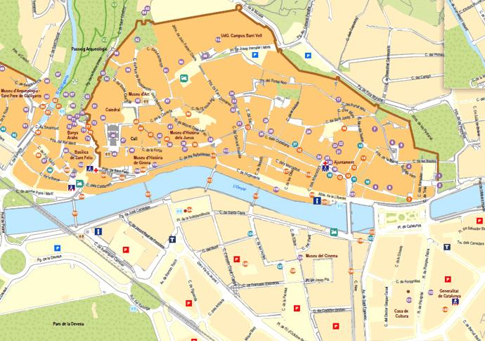ジローナの地図
