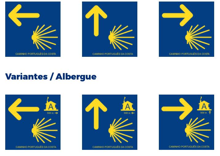 ポルトガル海岸の道の標識