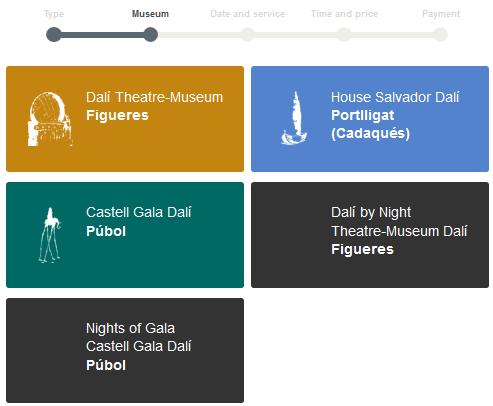 Dali museum reservation step2 selection de museum