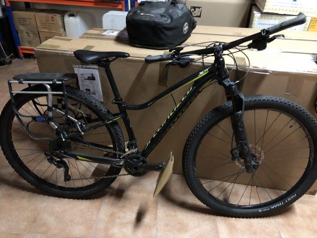 送られてきたレンタル自転車