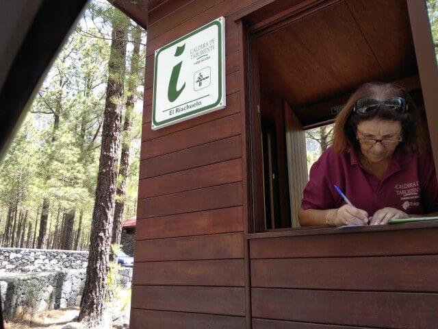 ラ・パルマ島の国立公園入場チェック