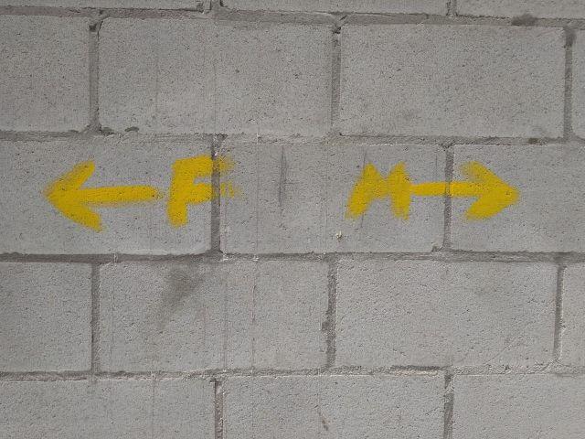 フィステーラ・ムシアの道の矢印