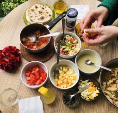 留学中の食事